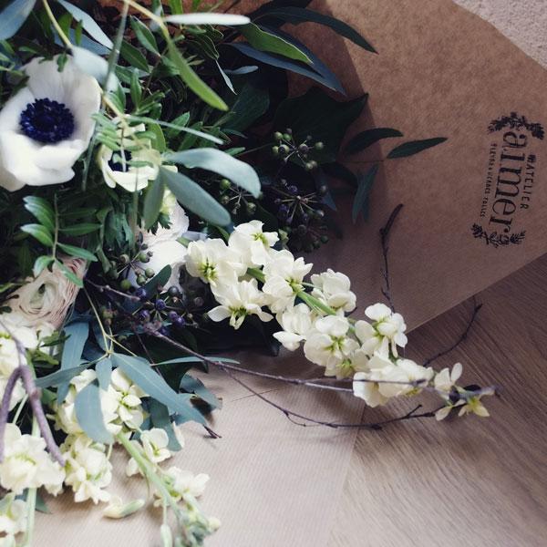Bouquet de fleurs de saison issu d'un abonnement
