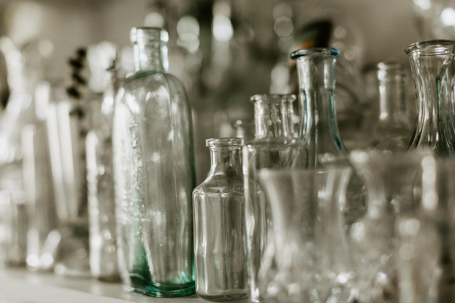 Ensemble de vase en verre