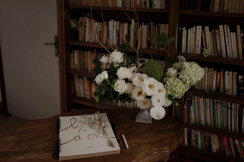 composition mariage blanc vegetal naturel sauvage poetique