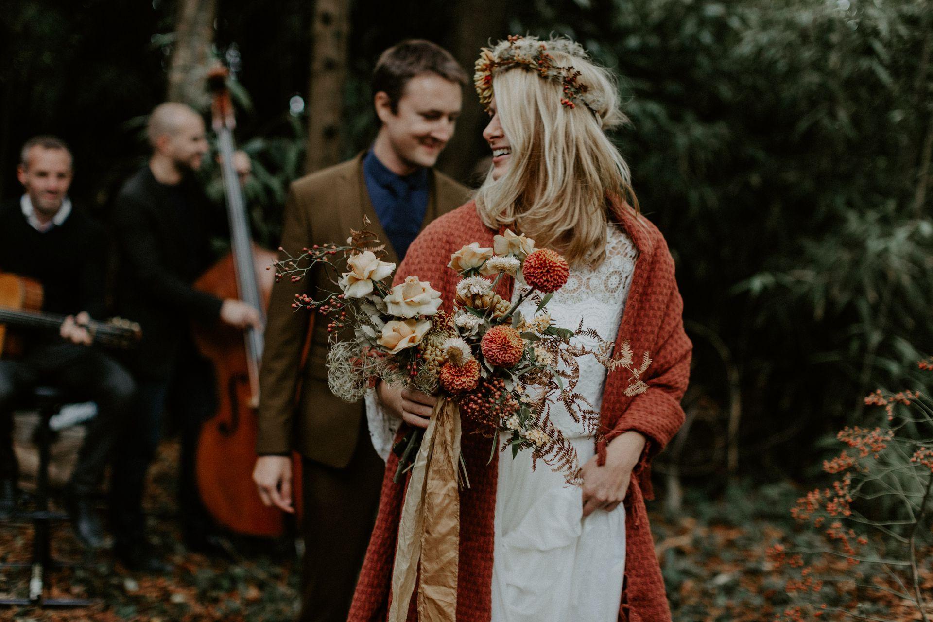 bouquet mariee couronne folk