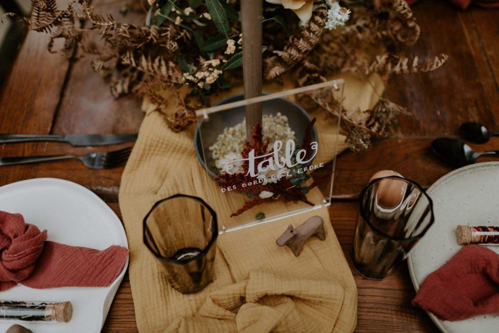 centre table mariage fleur automnal sauvage