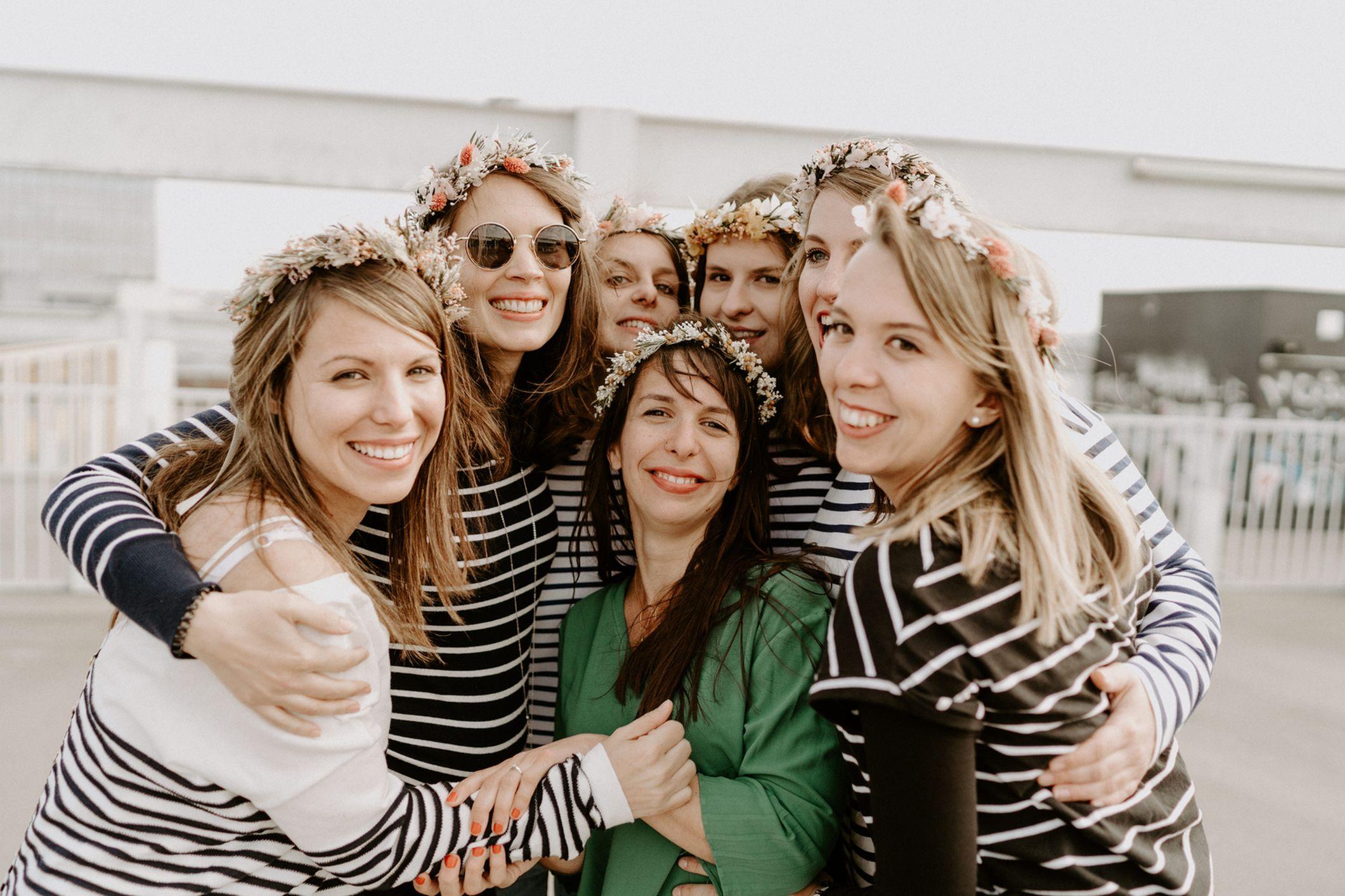EVJF Nantes couronne fleurs