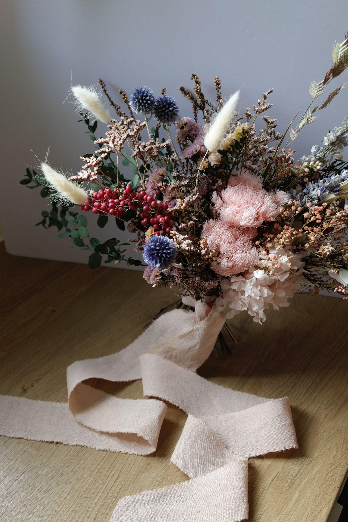bouquet mariée fleurs séchées