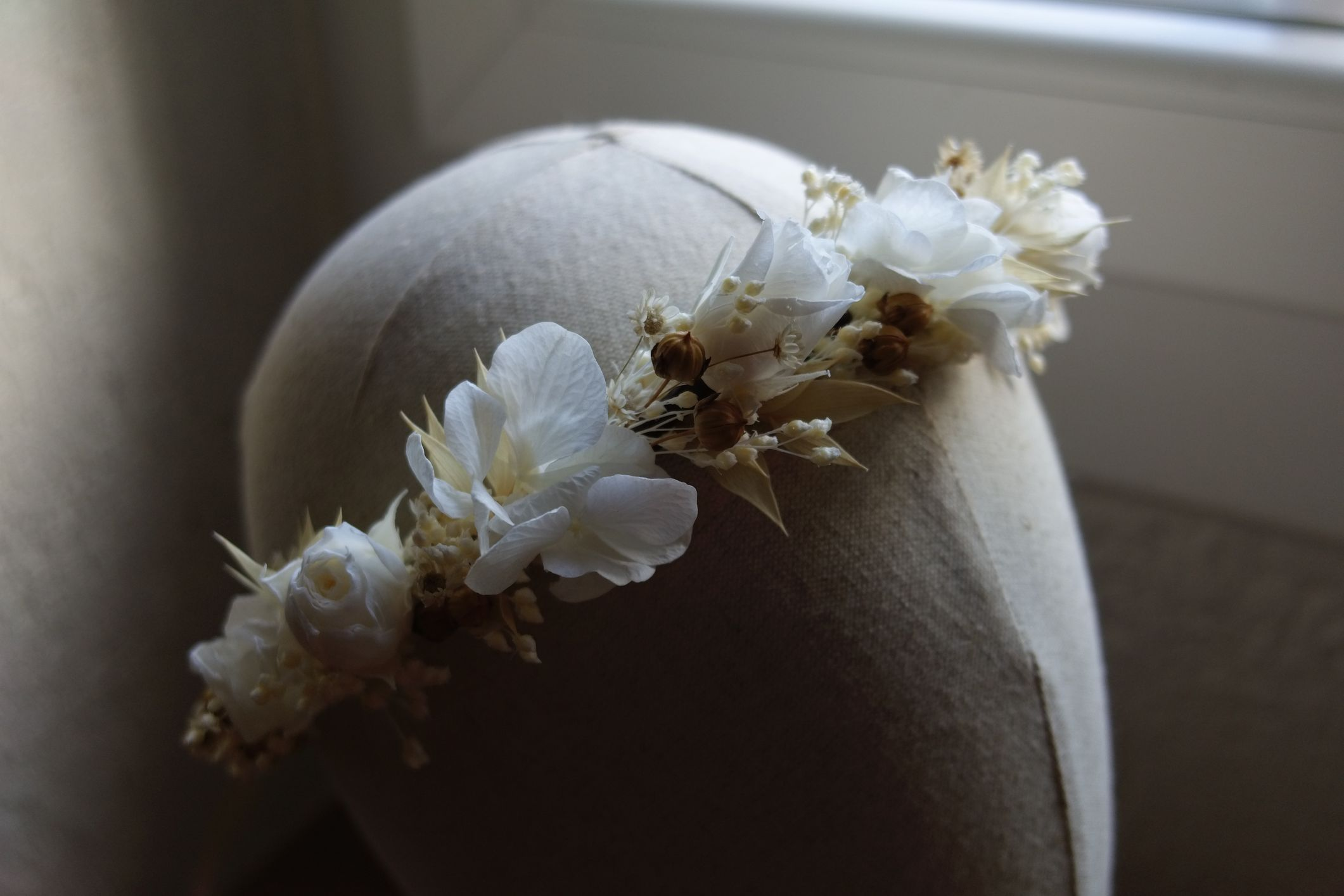 couronne mariee fleurs sechees