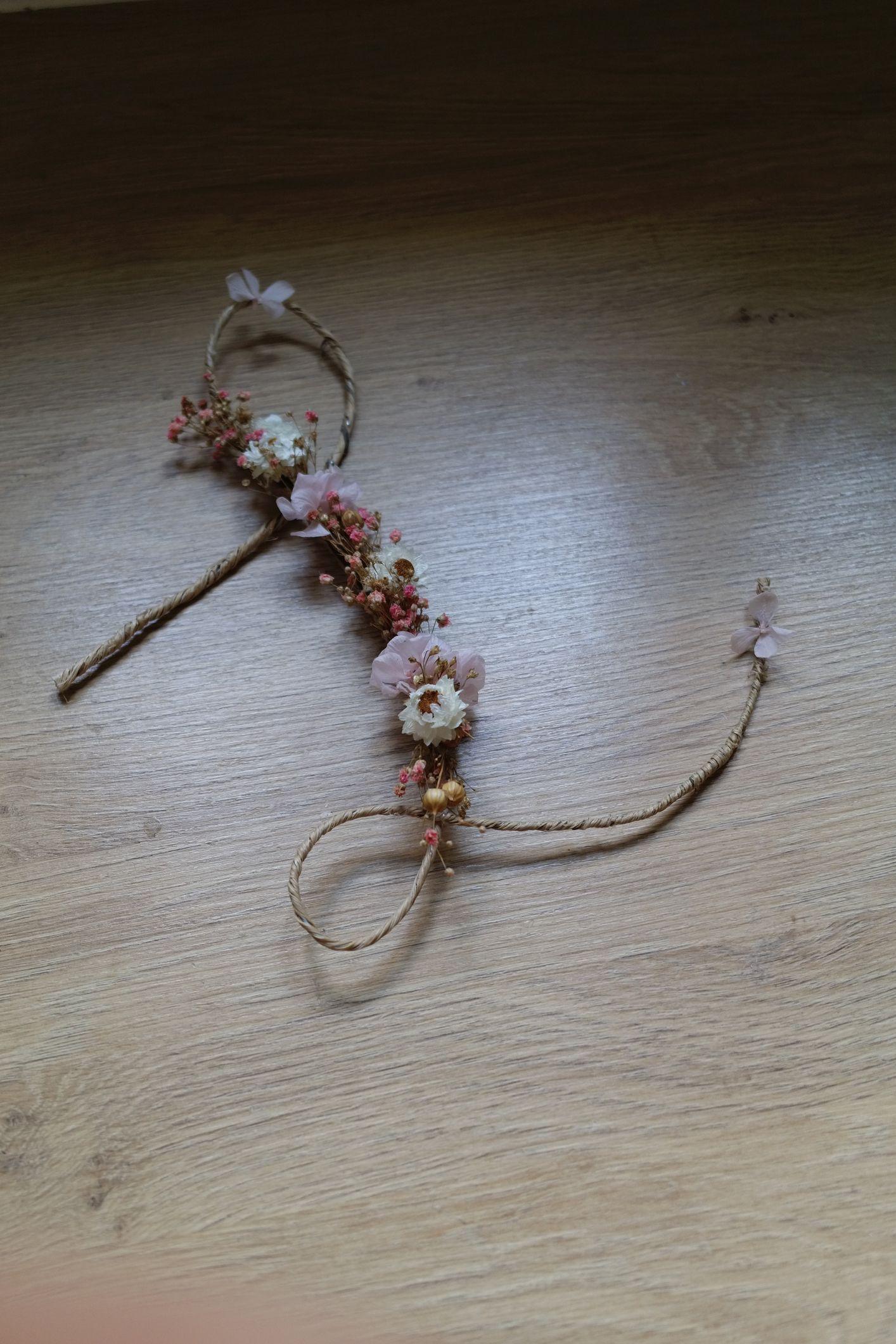 lettre fleurie fleurs sechees