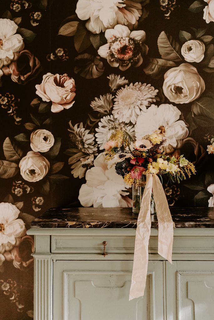mariage hiver mimosa anemone fleur