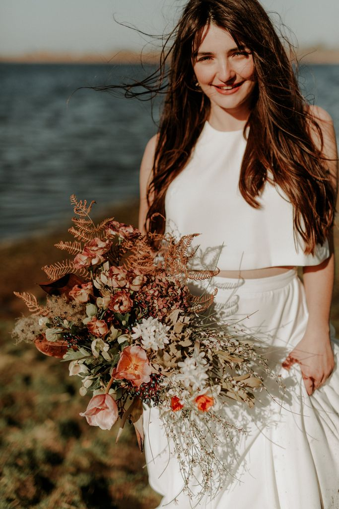 shooting collection robe mariee bouquet