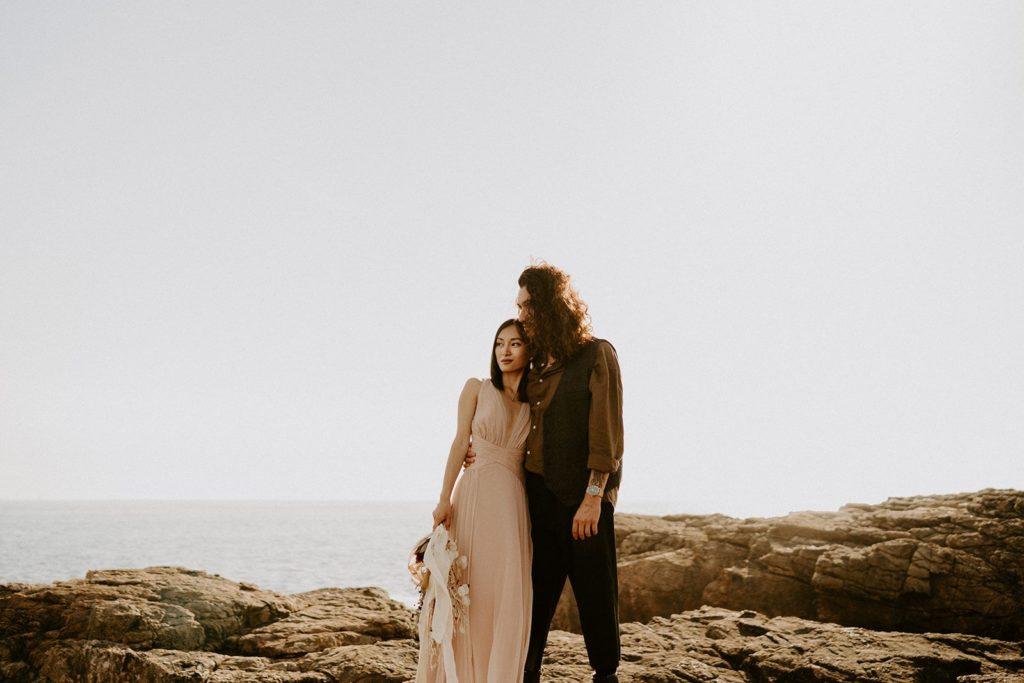 elopement mariage fleurs sechees