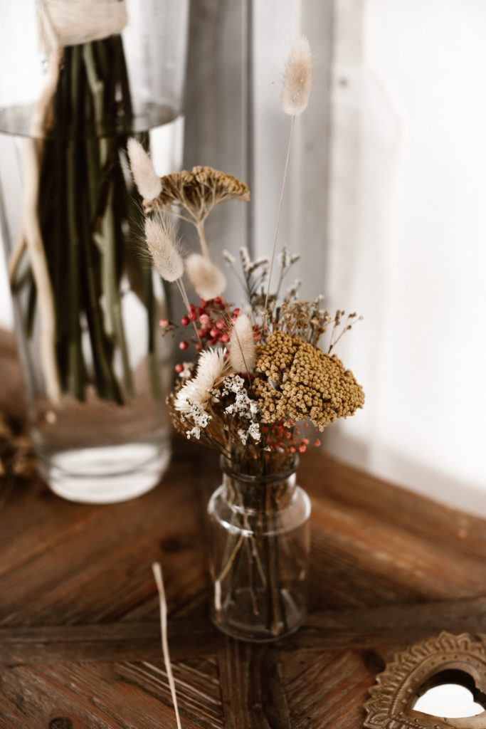 mariage fleurs sechees