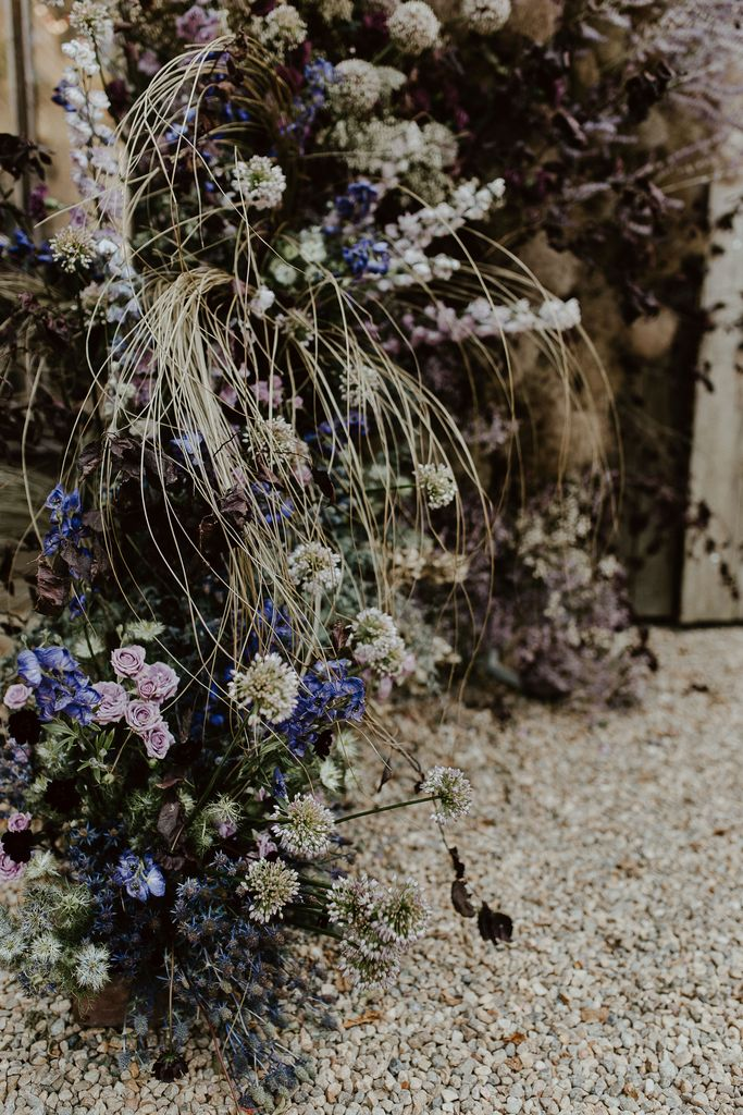 mariage ésotérique floral backdrop pourpre