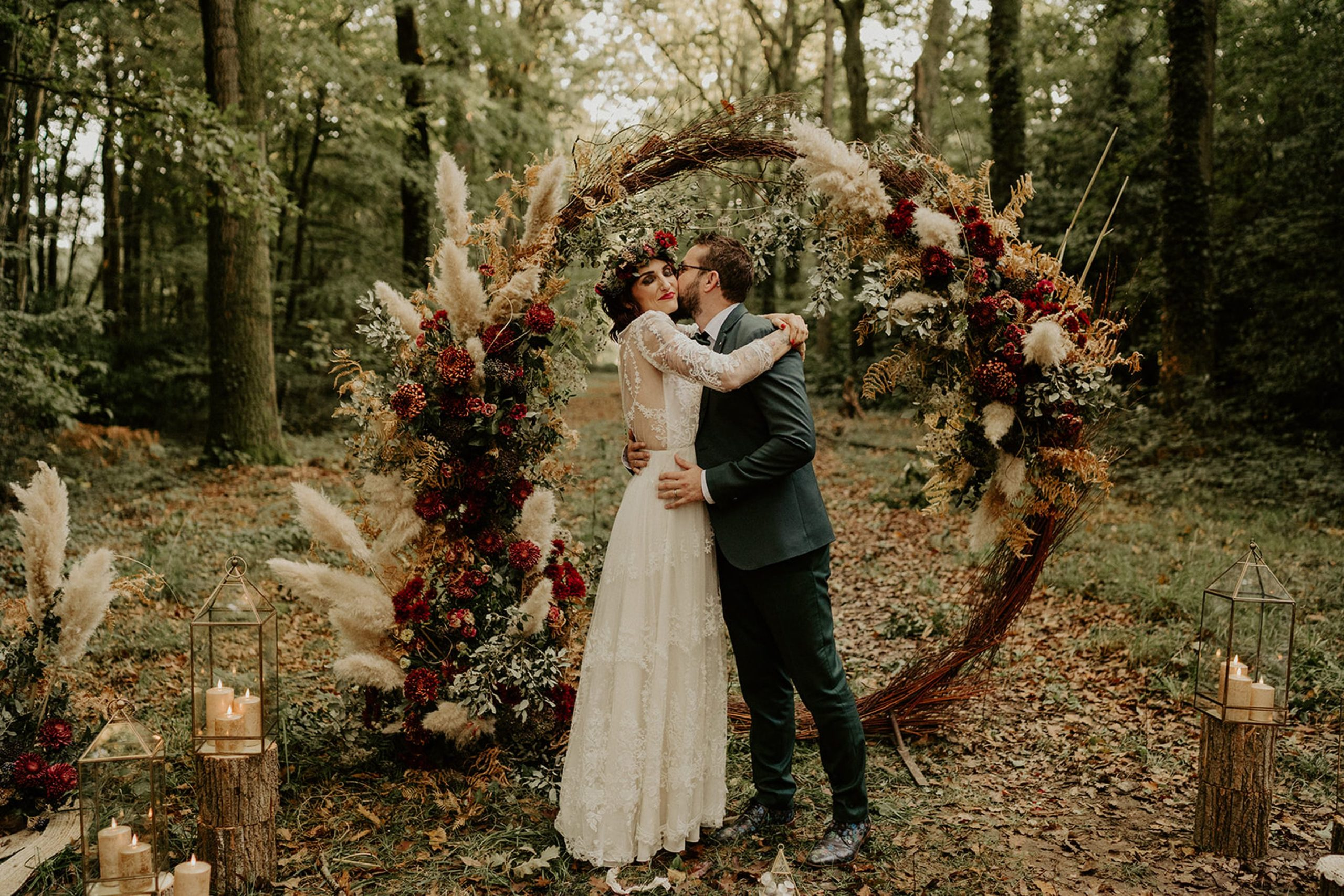 elopement mariage foret automnal