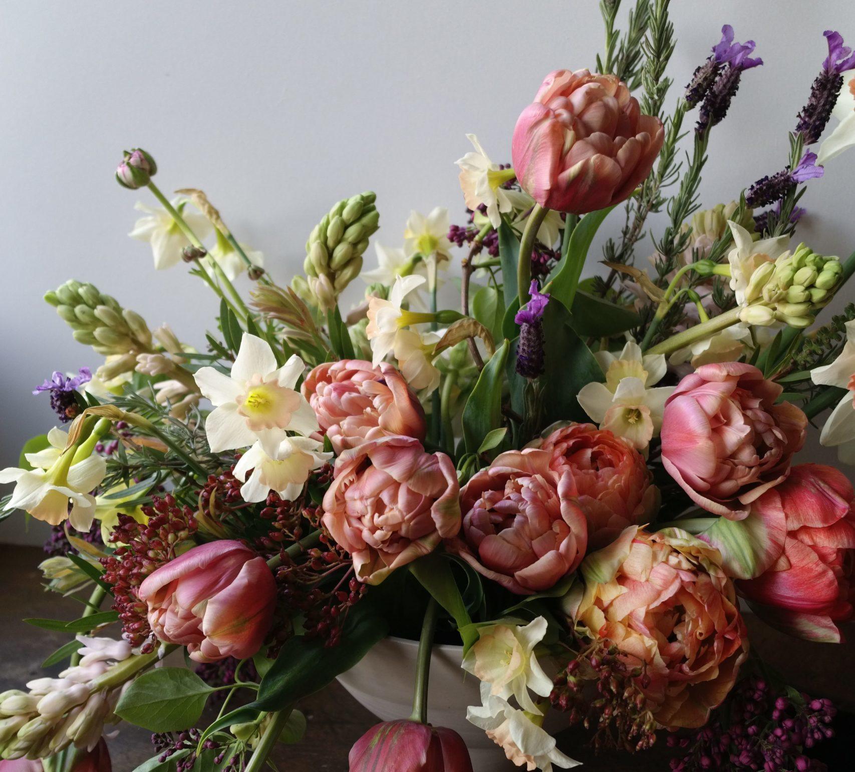 composition fleurs francaises