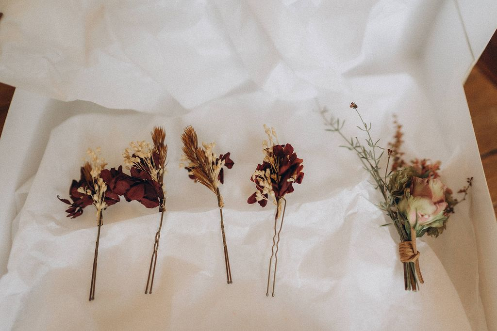 epingle fleurs sechees