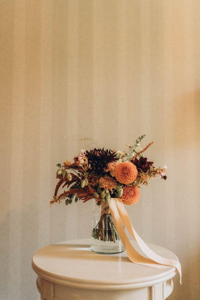 bouquet de mariee automne
