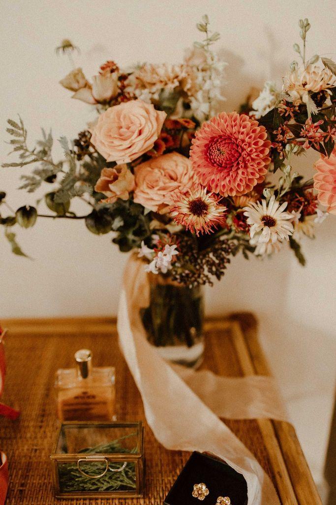 bouquet mariee terracotta